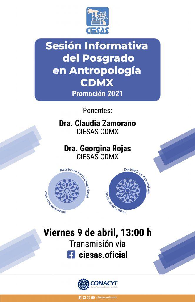 Cartel sesión informativa antropología cdmx