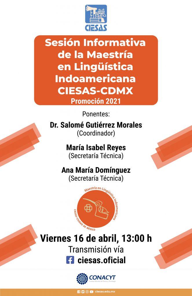 Invitación sesión informativa maestría lingüística